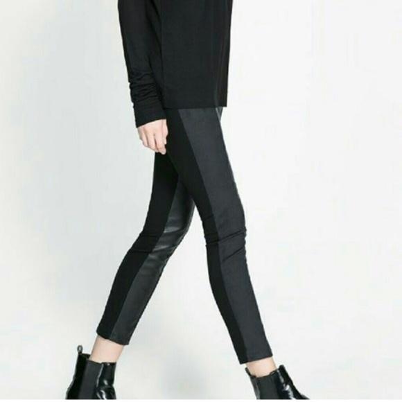 d9e215e0 Zara Pants | Nwt Wb Collection Faux Leather Leggingsi013 | Poshmark